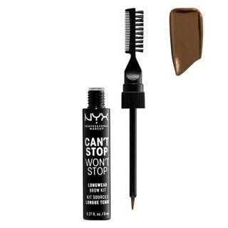NYX NYX Professional Makeup(ニックス) キャントストップ ウォントストップ ブロウ インク キット 本体 04 カラー・チョコレート 8mlの画像