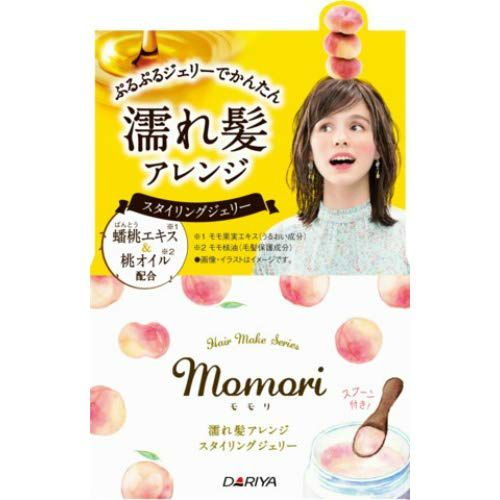 モモリのモモリ 濡れ髪アレンジ スタイリングジェリー 100g 甘く優しい桃が香るフルーティフルールの香りに関する画像1