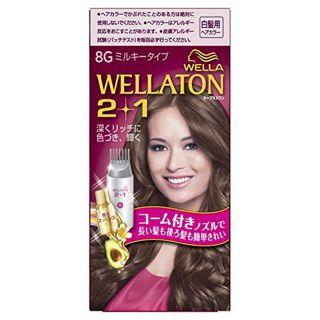 ウエラ ウエラ ウエラトーン ツープラスワン ミルキー EX 8G より明るいウォームブラウン 60g+60ml+5.5mlの画像