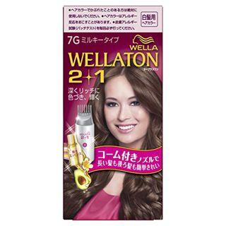 null ウエラ ウエラトーン ツープラスワン ミルキー EX 7G 明るいウォームブラウン 60g+60ml+5.5mlの画像