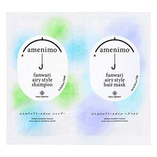 amenimo amenimo ふんわりエアリースタイル シャンプー&ヘアマスク 1dayお試し トライアル 10mL+10g リーフィーフローラルの香りの画像