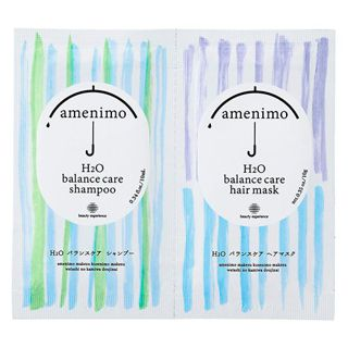 amenimo amenimo H2O バランスケア シャンプー&ヘアマスク 1dayお試し トライアル 10mL+10g リーフィーローズの香りの画像