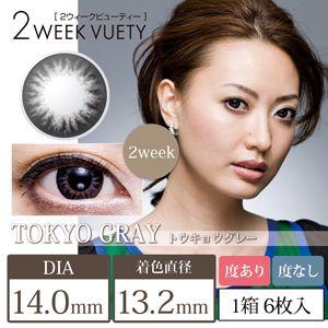 ビューノ 2weekビューティー 6枚/箱 (度なし) 東京グレー の画像 0