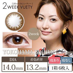 ビューノの2weekビューティー 6枚/箱 (度なし) 横浜ブラウンに関する画像1