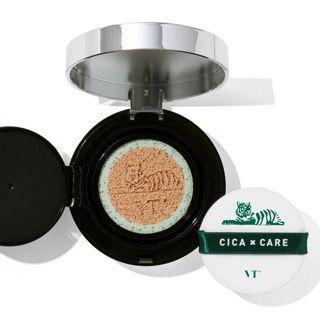 VT cosmetics シカレッドネスカバークッション 21番 ライトベージュ 本品14g+リフィル14gの画像