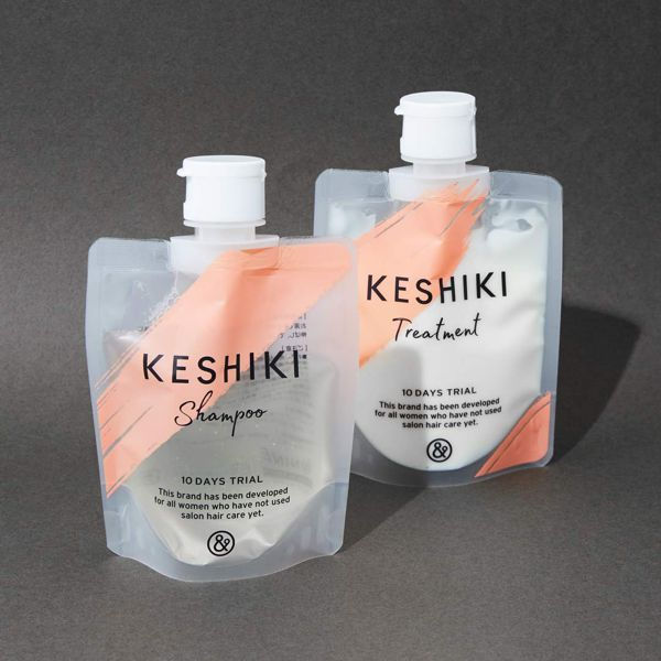 KESHIKIのケシキのはじまり シャンプー100ml/トリートメント100gに関する画像1