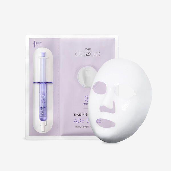 THE OOZOOのフェイスインショットマスク エイジキュア マスク27ml+アンプル2.8mlに関する画像1