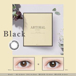 アーティラル アーティラル UV MOIST ワンデー  30枚/箱(度あり) ブラックの画像