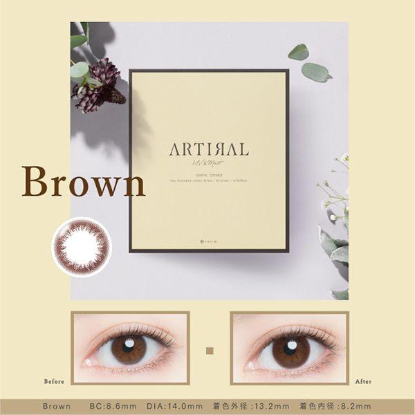 アーティラルのアーティラル UV MOIST 30枚/箱(度なし) ブラウンに関する画像1