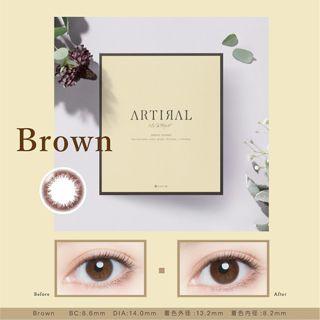 アーティラル アーティラル UV MOIST 30枚/箱(度あり) ブラウンの画像