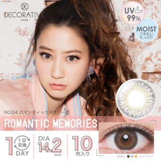 デコラティブアイズ デコラティブアイズ ワンデー UVモイスト 10枚/箱 (度なし) ロマンティックメモリーズの画像