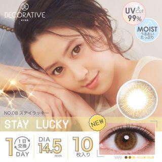 デコラティブアイズ デコラティブアイズ ワンデー UVモイスト 10枚/箱 (度なし) ステイラッキーの画像