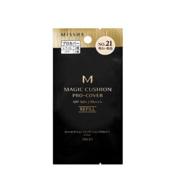 ミシャのミシャ M クッション ファンデーション No.21 明るい肌色 【レフィルのみ】 プロカバー 15g SPF50+ PA+++に関する画像1