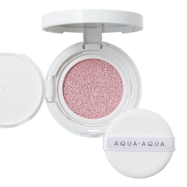アクア・アクアのオーガニッククッションコンパクト カラーベース ピンク(トーンアップ) 9g SPF13 PA++に関する画像1
