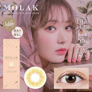MOLAK MOLAK ワンデー UV  10枚/箱 (度なし) コーラルブラウンの画像