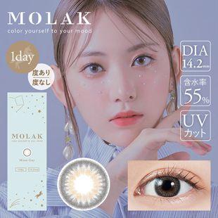 MOLAK MOLAK ワンデー UV  10枚/箱 (度なし) Mirror Gray ミラーグレー の画像 0