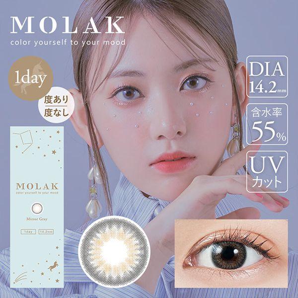MOLAKのMOLAK ワンデー UV  10枚/箱 (度なし) Mirror Gray ミラーグレーに関する画像1