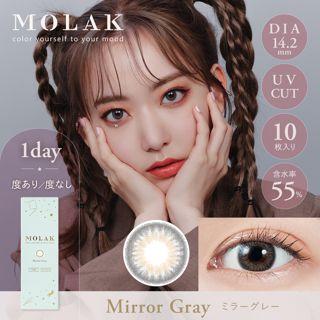 MOLAK MOLAK ワンデー UV  10枚/箱 (度なし) Mirror Gray ミラーグレーの画像