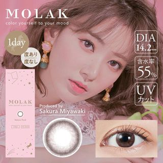 MOLAK MOLAK ワンデー UV  10枚/箱 (度なし) サクラペタルの画像