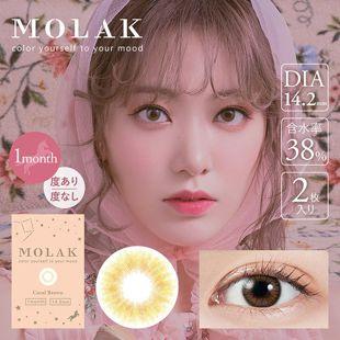 MOLAK MOLAK マンスリー 2枚/箱(度なし) コーラルブラウン の画像 0