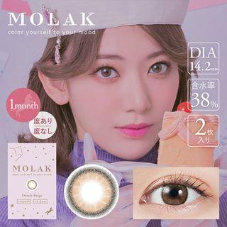 MOLAK MOLAK マンスリー 2枚/箱(度なし) ダズルベージュの画像