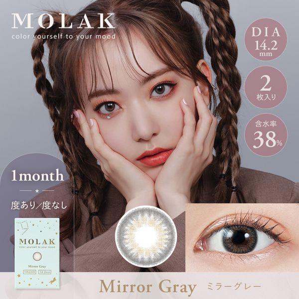 MOLAKのMOLAK マンスリー 2枚/箱(度なし) ミラーグレーに関する画像1