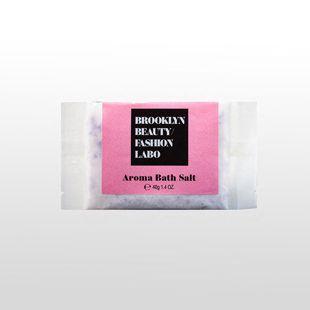 ブルックリンビューティーファッションラボ アロマバスソルト ピンク 40g の画像 0