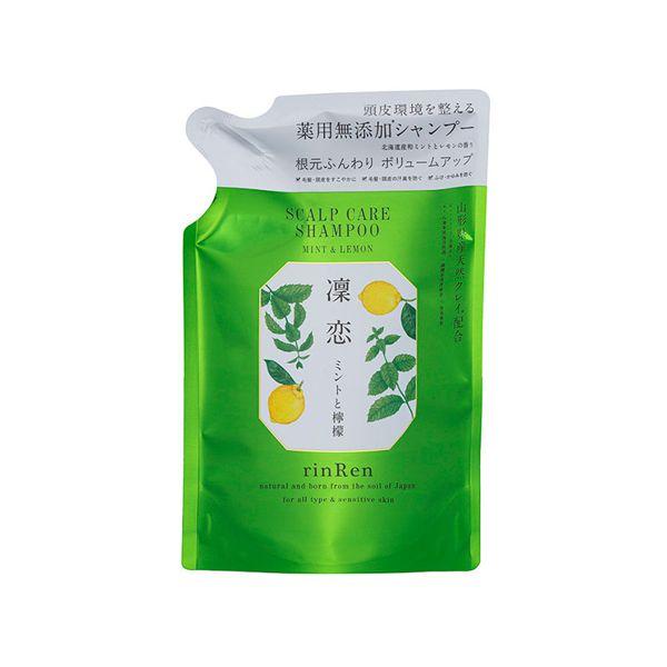 リンレンのレメディアル シャンプー ミント&レモン <医薬部外品> 【詰め替え】 300mlに関する画像1