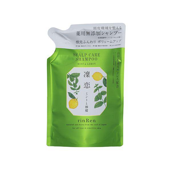 リンレンのシャンプー ミント&レモン <医薬部外品> 300ml【つめかえ】に関する画像1