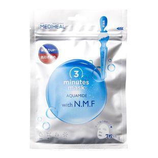 メディヒール 3ミニッツシートマスク アクアマイド with N.M.F 7枚 の画像 0