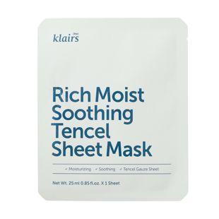 klairs リッチモイストスージングテンセルシートマスク 25ml の画像 0