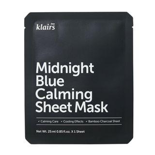 klairs ミッドナイトブルーカーミングシートマスク 25mlの画像