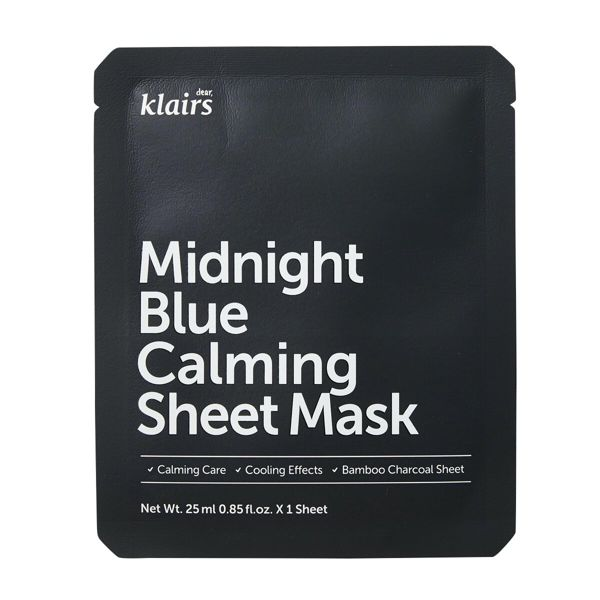 klairsのミッドナイトブルーカーミングシートマスク 25mlに関する画像1