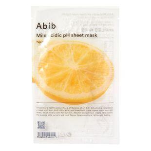 Abib マイルド アシディック pH シートマスク ゆず 30ml の画像 0