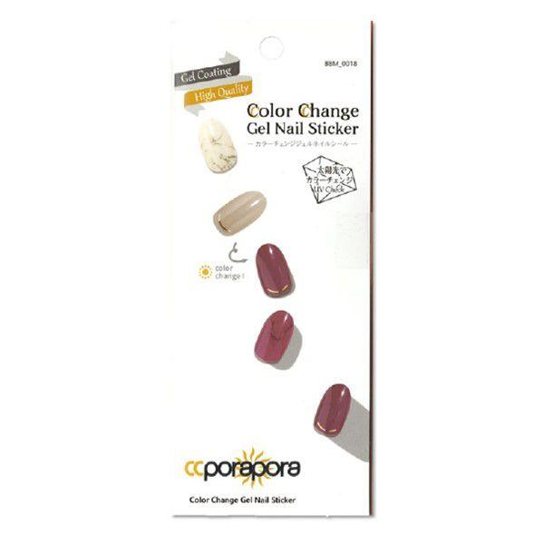 CCPORAPORAのカラーチェンジジェルネイルシール BBM-0018 26pcsに関する画像1