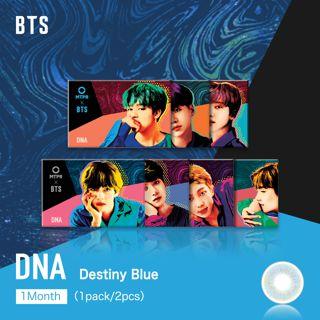 MTPR×BTS DNA マンスリー 2枚/箱 (度なし) Destiny Blueの画像