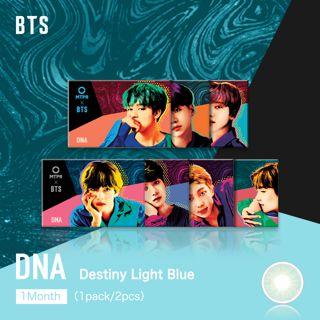 MTPR×BTS DNA マンスリー 2枚/箱 (度なし) Destiny Light Blueの画像