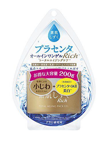 素肌しずくのアサヒグループ食品株式会社 素肌しずくリッチ トータルエイジング・オールインワンゲル 200g(医薬部外品)に関する画像1