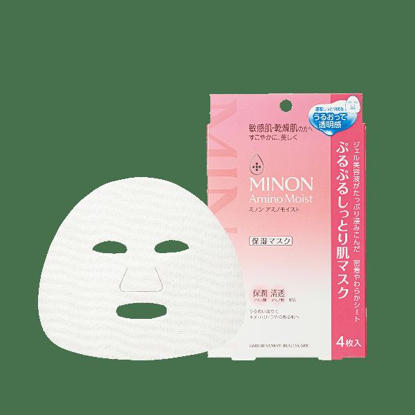 ミノンのぷるぷるしっとり肌マスク 22mL×4枚に関する画像1