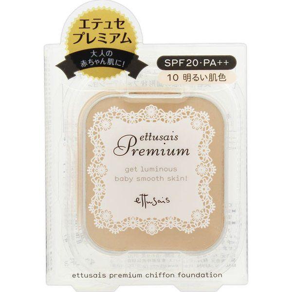 エテュセのプレミアム シフォンファンデーション 10 明るい肌色 SPF20 PA++に関する画像1