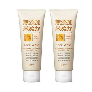 ロゼット ロゼット 無添加米ぬか 洗顔フォーム 140g×2個パック AZの画像