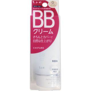 ちふれ BB クリーム 0 ピンク オークル系/ほんのりピンクの普通肌色 50g SPF27 PA++の画像