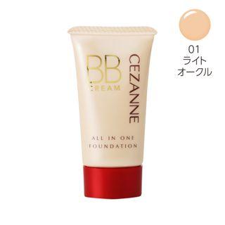 セザンヌ BBクリーム 01 ライトオークル 40g SPF23 PA++の画像