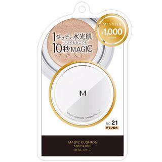 ミシャ ミシャ M クッション ファンデーション No.21 明るい肌色 モイスチャー 15g SPF50+ PA+++の画像