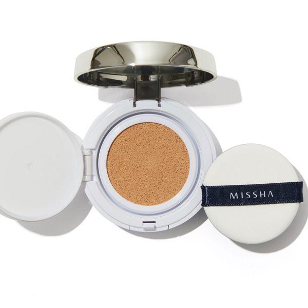 ミシャのミシャ M クッション ファンデーション No.21 明るい肌色 マット 15g SPF50+ PA+++に関する画像1