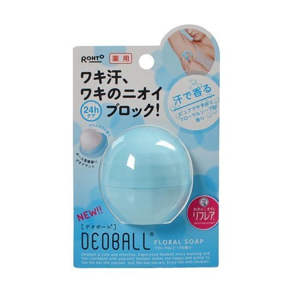 《ロート製薬》デオボール フローラルソープの香り 15g 【医薬部外品】のバリエーション1