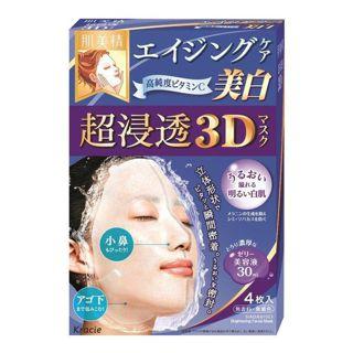 肌美精 クラシエホームプロダクツ肌美精 超浸透3Dマスク エイジングケア(美白)4枚(医薬部外品)の画像