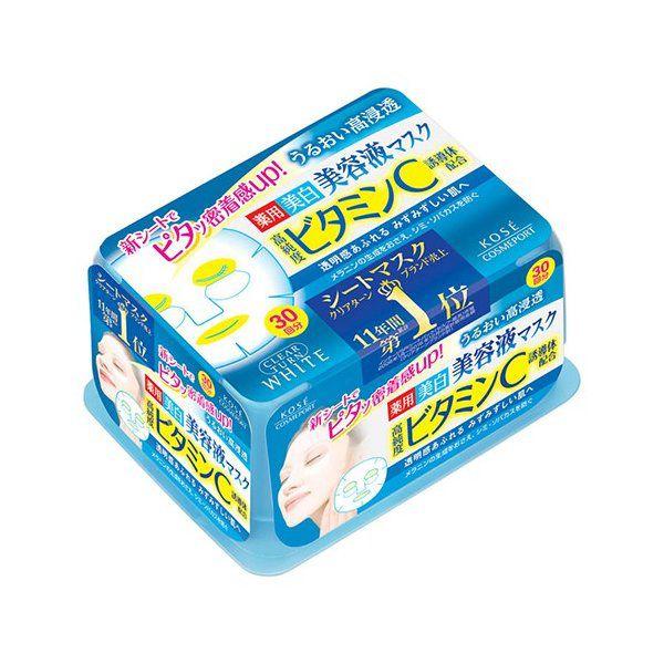 クリアターンのコーセークリアターン エッセンスマスク(ビタミンC)30回分(医薬部外品)に関する画像1