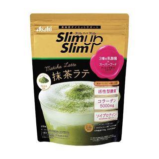 素肌しずく スリムアップスリム 酵素+スーパーフードシェイク 抹茶ラテ 315gの画像