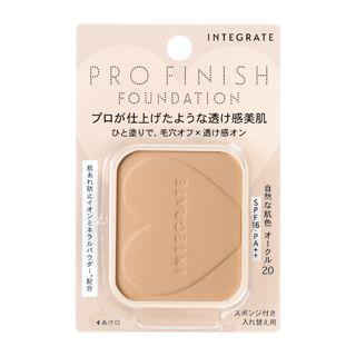 インテグレート プロフィニッシュファンデーション オークル20 自然な肌色 【レフィル】 10g SPF16 PA++の画像